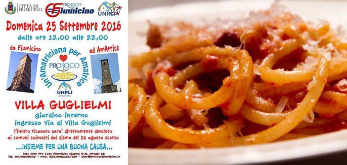 """""""Un'amatriciana per Amatrice"""": Fiumicino 25 settembre"""