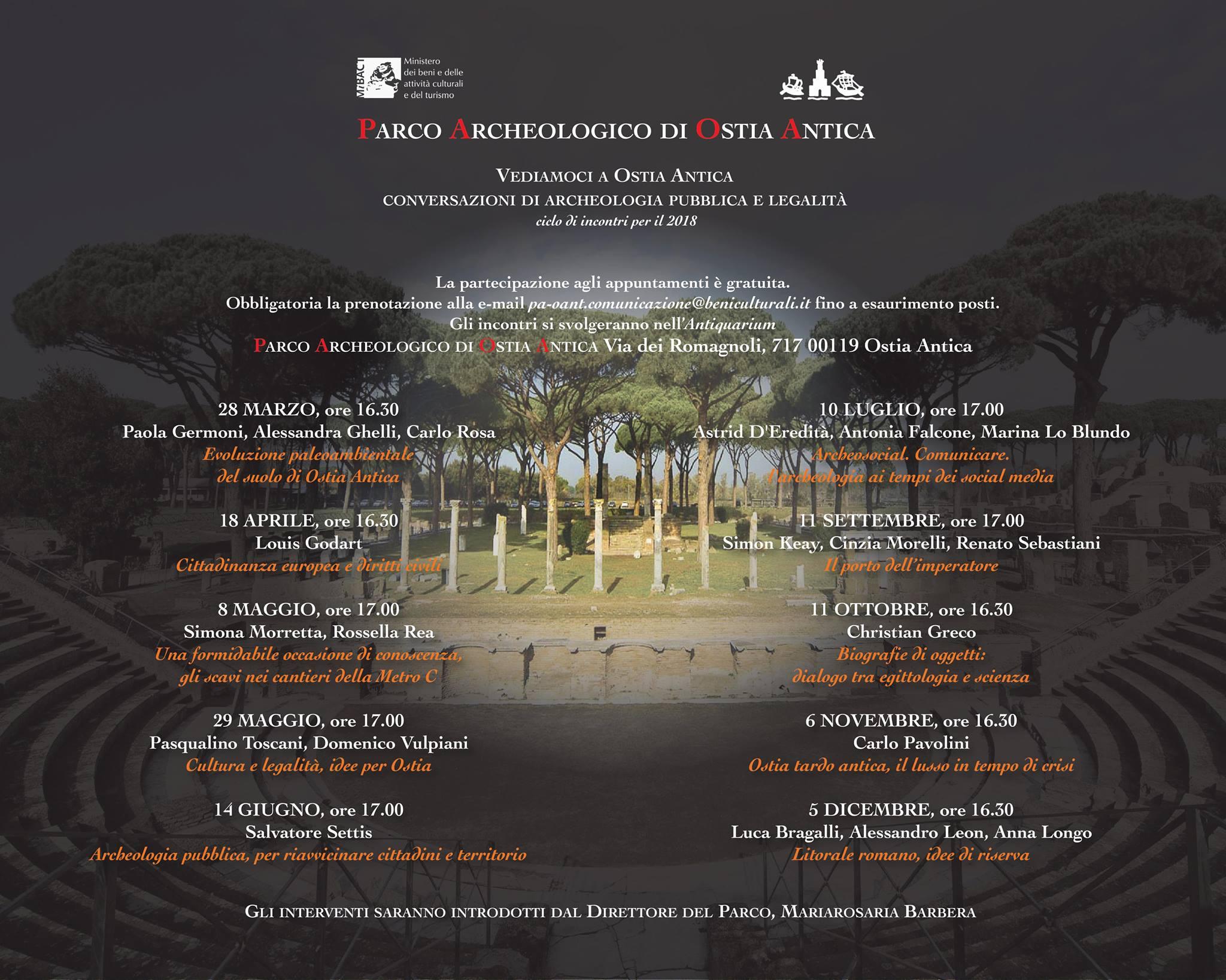 Vediamoci a Ostia Antica, dialogo e confronto tra le istituzioni e la cittadinanza