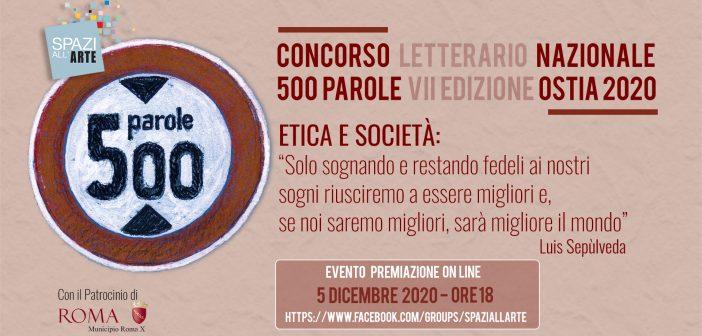 Concorso 500 Parole – Evento premiazione on line