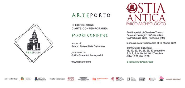 """""""Arteporto. Fuori Confine"""" – Mostra di Arte contemporanea ai Porti Imperiali di Claudio e Traiano"""